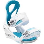 Women's 2013 Stiletto Snowboard Bindings White Blue