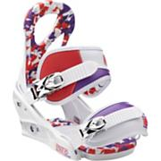 Kid's 2013 Stiletto Smalls Snowboard Bindings Small White