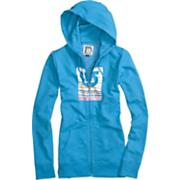 Women's 2013 Her Logo Fill Palette Stripes Basic Fullzip Hoodie Heather Blue-Ray Blue