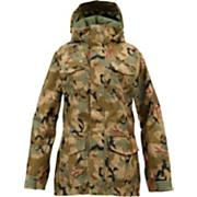 Women's 2013 Skylar Gore-Tex Snowboard Jacket Olive Painted Camo Green
