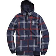 Men's 2013 Softshell Hoodie Snowboard Jacket Ballpoint Prospect Plaid Blue