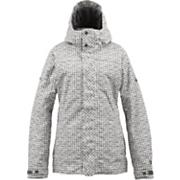 Women's 2013 TWC Fulltime Flirt Snowboard Jacket Graph Distressed Gingham White