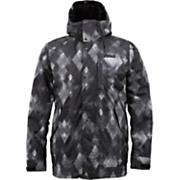 Men's 2013 TWC Throttle Snowboard Jacket True Black Diamond Watercolor Print