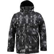 Men's 2013 TWC Warm And Friendly Snowboard Jacket True Black Diamond Watercolor Print