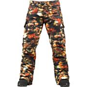 Women's 2013 Fly Snowboard Pants Trippy Garden Print Black Orange Yellow