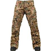 Women's 2013 Mosaic Gore-Tex Snowboard Pants Olive Painted Camo Green