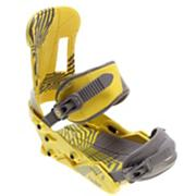 Men's 2013 Faction Snowboard Bindings Kick Flip Yellow Gray