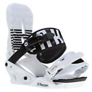 Men's 2013 Recon Snowboard Bindings White Black