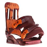 Men's 2013 Republic Snowboard Bindings Our Blood Brown Orange