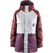 Women's 2013 Crush Snowboard Jacket Scrubs Crossfade Plaid Plum White Purple