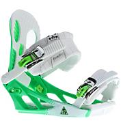 Men's 2013 Hurrithane Snowboard Bindings White