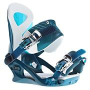 Women's 2013 Yeah Yeah Snowboard Bindings Dark Teal Blue