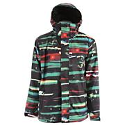 Men's 2013 Next Mission Print Snowboard Jacket Multi Black Green