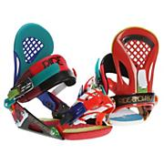 Men's 2013 EX Snowboard Bindings Franken Red Blue Green