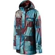 Men's 2013 Utility Snowboard Jacket North Shore Warpaint Blue Purple