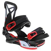 Men's 2013 SL Snowboard Bindings Black White