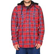 Men's 2013 Redding Flannel Hoodie Lock Out Plaid Red