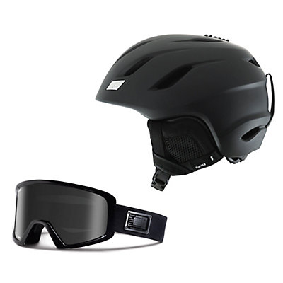 Giro Nine Helmet & Giro Blok Goggle Set, , large