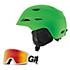 Giro Montane Helmet & Giro Blok Goggle Set