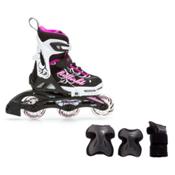 Rollerblade Spitfire XT Girls Inline Skates with Jr. Pad Set, , medium