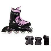 K2 Charm X Boa Girls Inline Skates with Flash Plus Jr Pads, , medium