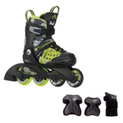 K2 SK8 Hero X Pro Boys Inline Skates with Flash Plus Jr Pads, , medium