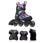 Charm X Pro Girls Inilne Skate with Pads, , medium