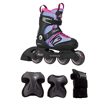 Charm X Pro Girls Inilne Skate with Pads, , large