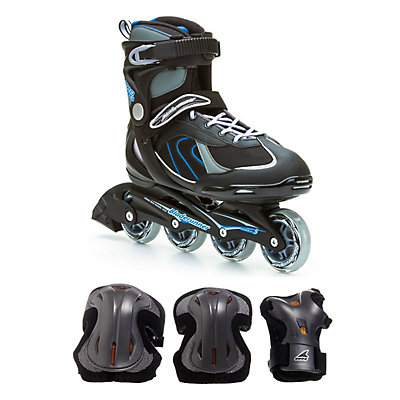 Pro 80 Mens Inline Skate with Pads, , large
