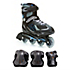Pro 80 Mens Inline Skate with Pads