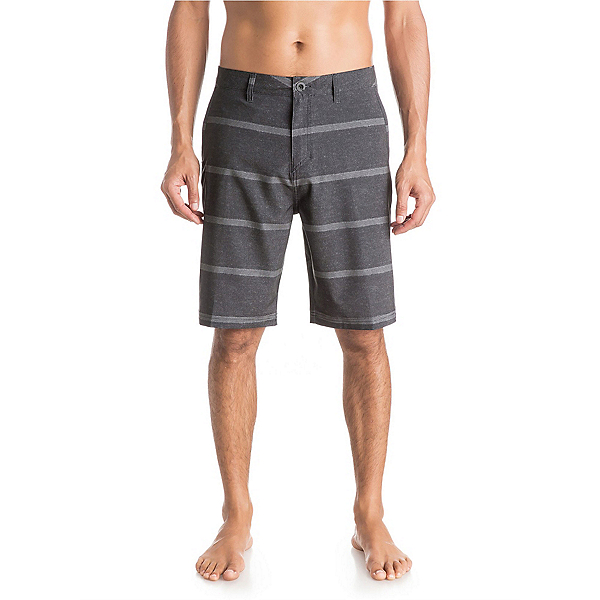 Quiksilver Stripes AMP 21 Mens Board Shorts, Black, 600