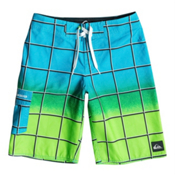 Quiksilver Electric Colors Boys Bathing Suit, Neon Blue, medium