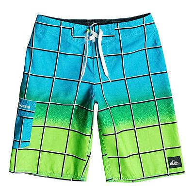 Quiksilver Electric Colors Boys Bathing Suit, Neon Blue, viewer