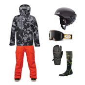 686 Authentic Smarty Form Jacket & 686 Authentic Affinity Cargo Pant Men's Outfit, , medium
