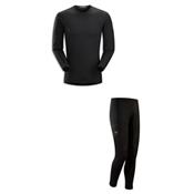 Arc'Teryx Phase AR Long Sleeve Crew Long Underwear Top & Arc'Teryx Phase AR Long Underwear Pants Mens Baselayer Outfit, , medium