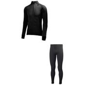 Helly Hansen Warm Freeze 1/2 Zip Long Underwear Top & Helly Hansen Warm Long Underwear Pants Mens Baselayer Outfit, , medium