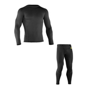 Under Armour Base 2.0 Crew Long Underwear Top & Under Armour Base 2.0 Leggings Long Underwear Pants Mens Baselayer Outfit, , medium