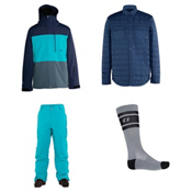 Armada Mantle Jacket & Armada Union Insulated Pants Mens Outfit, , medium