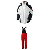 Obermeyer Shryke Jacket & Obermeyer Force Suspender Pants Mens Outfit, , medium