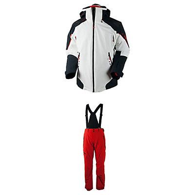 Obermeyer Shryke Jacket & Obermeyer Force Suspender Pants Mens Outfit, , large