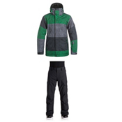 Quiksilver Mission Printed Jacket & Quiksilver Porter Insulated Pants Mens Outfit, , medium