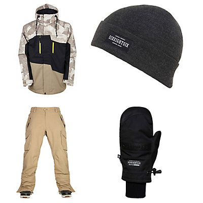 686 Authentic Geo Insulated Jacket & 686 Infinity Cargo Pants Mens Outfit, , large
