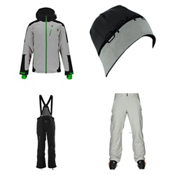 Spyder Chambers Jacket & Spyder Dare Athletic Pants Mens Outfit, , medium