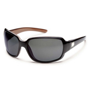 SunCloud Cookie Polarized Sunglasses, Black Backpaint-Gray Polarized, medium