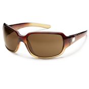 SunCloud Cookie Polarized Sunglasses, Brown Fade Laser, medium