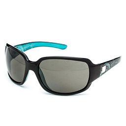 SunCloud Cookie Polarized Sunglasses, Black Teal Laser-Gray Polarized, 256