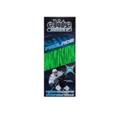 Elite Hockey Waxed Hockey Skate Laces, Lime-Navy, medium
