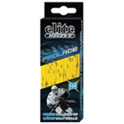 Elite Hockey Waxed Hockey Skate Laces, Yellow-Black, medium