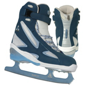 Jackson Softec Elite Womens Figure Ice Skates, Navy-Powder Blue, medium