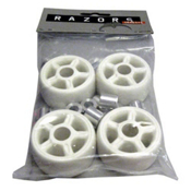 Razors Antirocker Aggressive Skate Wheels - 4 Pack, White, medium